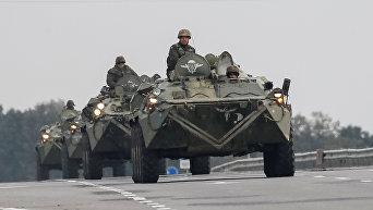 Спецтехника для ликвидации последствий пожаров и взрывов на арсенале в Калиновке