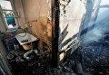 Последствия пожаров в Калиновке