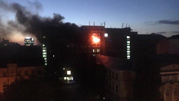 Вцентре столицы Украины горел институт пищевых технологий