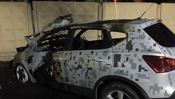 Неизвестные подожгли автомобиль директора департамента внутреннего финансового контроля, надзора и противодействия коррупции Андрея Ермолаева