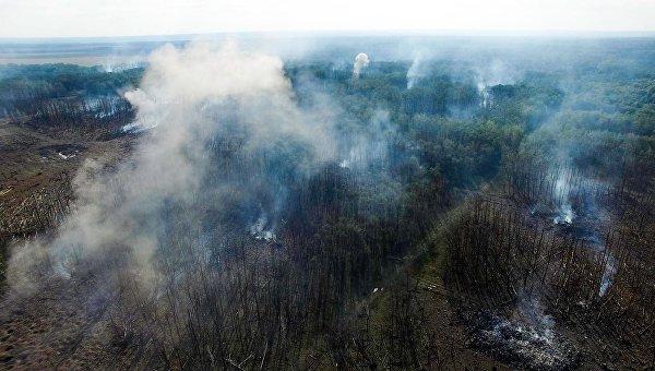 Пожар на складах боеприпасов под Винницей