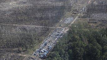 Последствия взрыва на военных складах в Калиновке