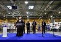 Президент Петр Порошенко на открытии завода в Коломые