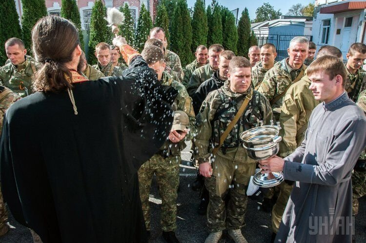 Отправка батальона правоохранителей в зону АТО