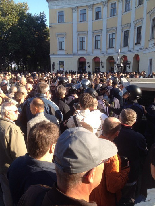 Ситуация в Одессе перед выступлением Михаила Саакашвили, 30 сентября 2017