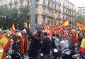 Многочисленный митинг проходит в центре Барселоны за единство Испании