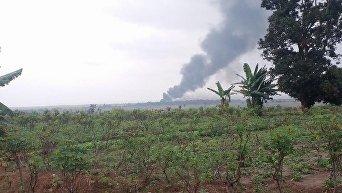 Появились жуткие кадры на месте падения самолета в Конго, где могли быть украинцы