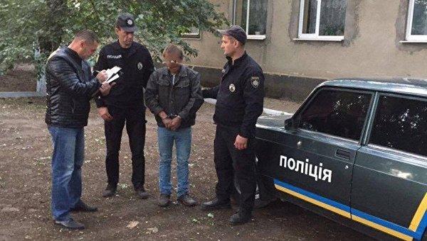Задержанный в Одессе мужчина