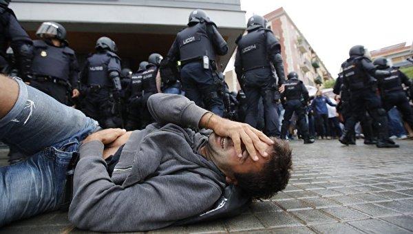 Столкновения в ходе референдума в Каталонии