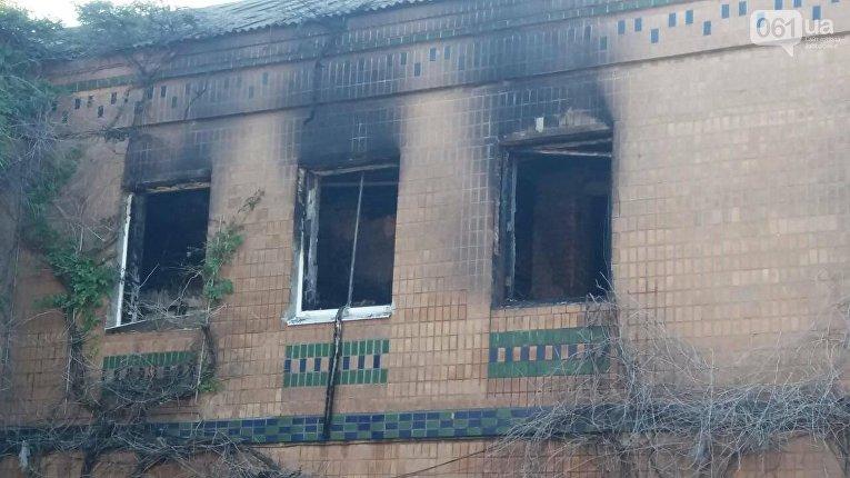 На месте пожара в хостеле в Запорожье