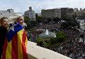 Протесты против запрета референдума в Каталонии