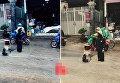Вьетнамец стоял под дождем несколько часов в яме, чтобы не допустить аварии