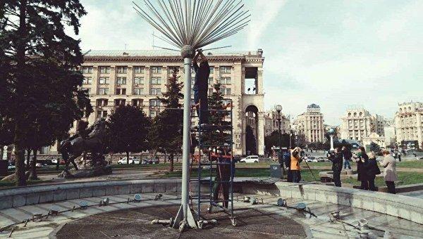 Работа по демонтажу фонтанов в Киеве