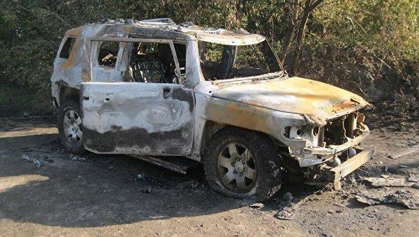 На месте обстрела Toyota в Харьковской области