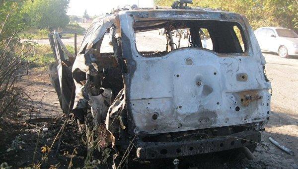 Под Харьковом неизвестные обстреляли авто изгранатомета