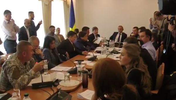Заседание комитета Верховной Рады по вопросам национальной безопасности и обороны, 5 октября 2017