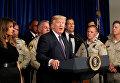 Президент США Дональд Трамп приехал в среду на несколько часов в Лас-Вегас, чтобы встретиться с работниками экстренных служб и пострадавшими в результате стрельбы