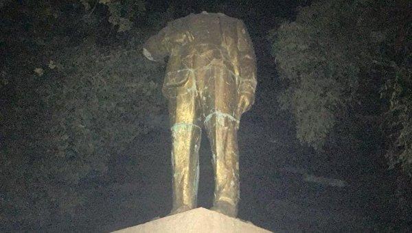 Обезглавленный Ленин в Одесской области
