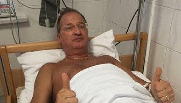 Олег Радковский в больнице
