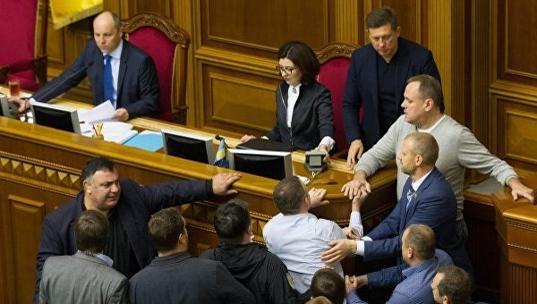 Заседание Верховной Рады 6 октября 2017. Андрей Парубий