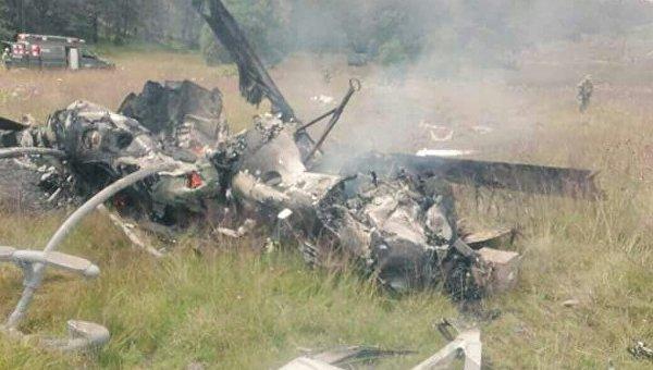 Крушение военного самолета в Мексике
