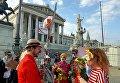 В Австрии запретили закрывать лицо. Клоуны вышли на акцию протеста