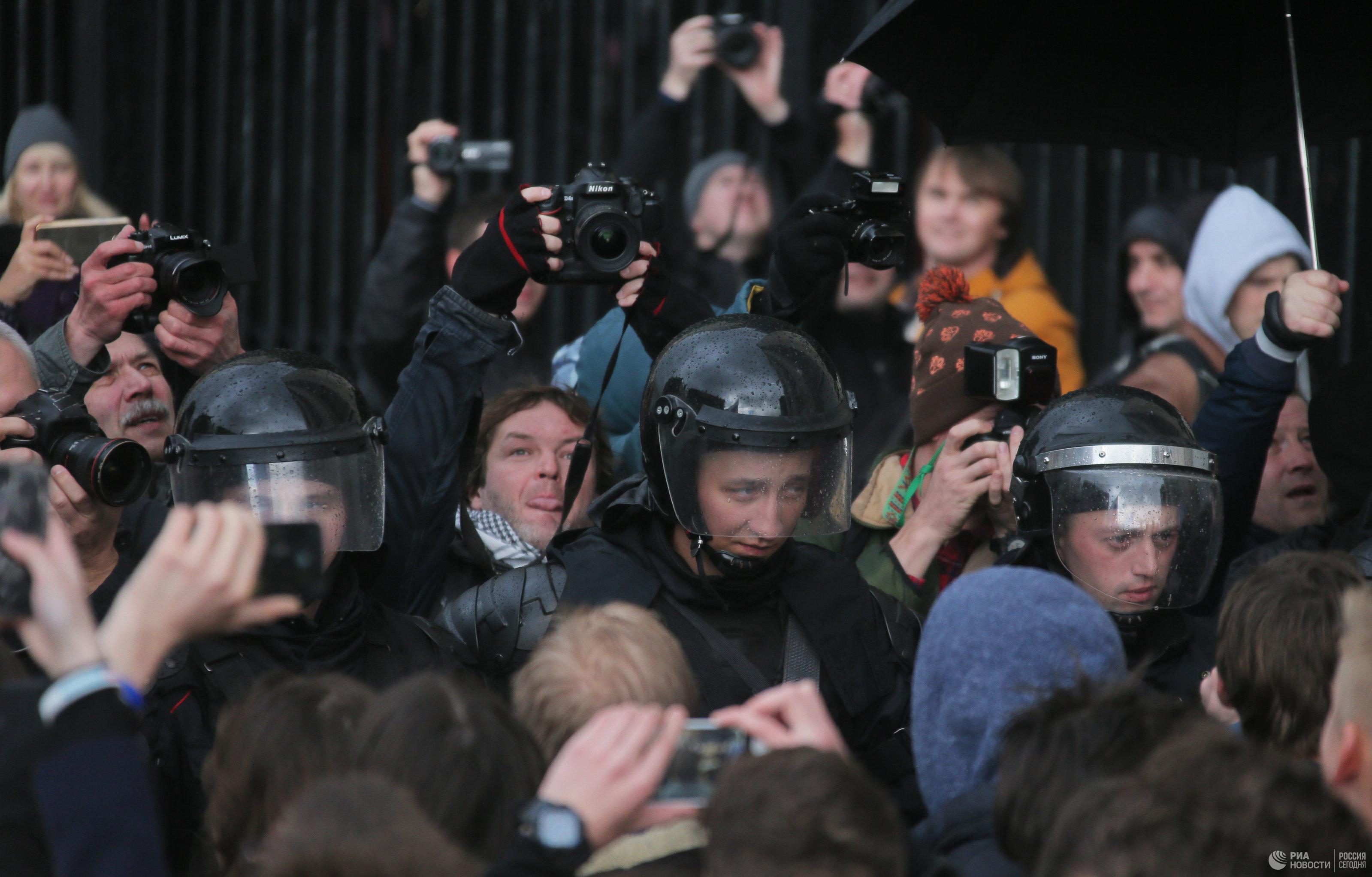 Нанесанкционированную акцию в российской столице вышли около 700 человек— МВД
