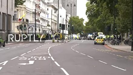Первые кадры с места наезда на пешеходов в Лондоне, 7 октября 2017. Видео