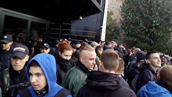 Ситуация возле львовского клуба, где должен выступать Сергей Бабкин, 7 октября 2017