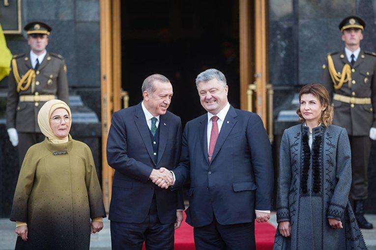 Петр Порошенко и Тайип Эрдоган в Киеве