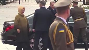 Эрдоган в Киеве. Видео