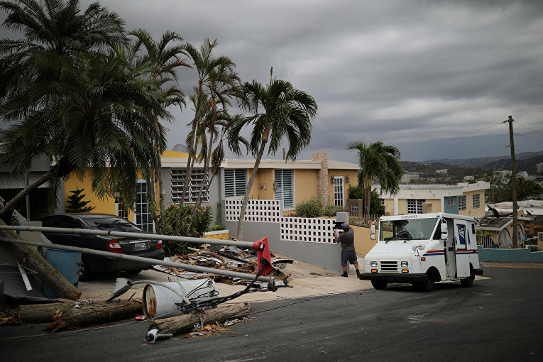 Последствия урагана Мария в Пуэрто-Рико.