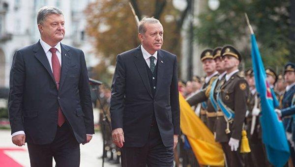 Петр Порошенко с президентом Турции Реджепом Тайипом Эрдоганом