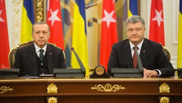 Президенты Турции Реджеп Тайип Эрдоган и Украины Петр Порошенко