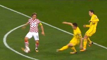 Матч Украина - Хорватия. Видео