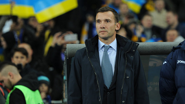 Андрей Шевченко на матче Украина - Хорватия