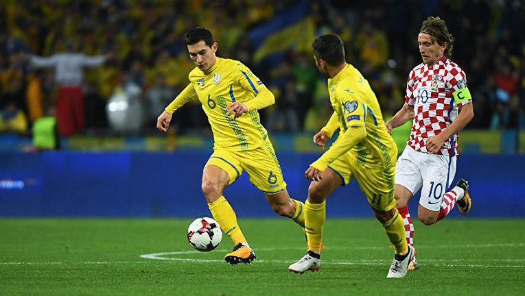 Матч Украина - Хорватия