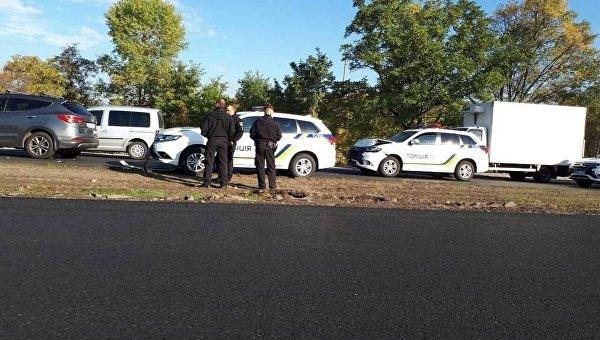 В центре Запорожья разбились сразу три новые гибридные Mitsubishi PHEV полиции