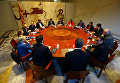 Каталонский президент Карлес Пудждемтон председательствует на заседании Женералитата в Барселоне, Испания