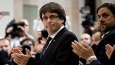 Председатель правительства Каталонии Карлес Пучдемон. Архивное фото