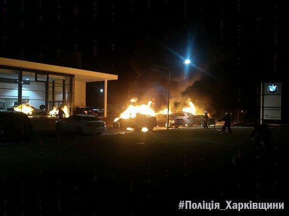 В Харькове неизвестные подожгли сразу четыре BMW