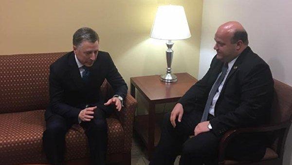Посол Украины вСША обсудил сВолкером миротворцев ООН наДонбассе