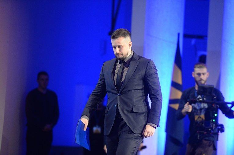 Андрей Билецкий на съезде Национального корпуса в Киеве, 14 октября 2017