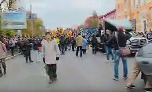 В Киеве стартует марш националистов в честь УПА. Онлайн