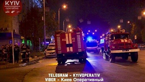 Пожар в центре Киева в подземном переходе