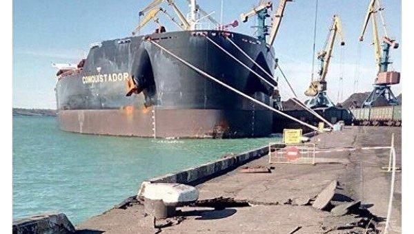 Под Одессой грузовое судно под флагом Мальты протаранило причал