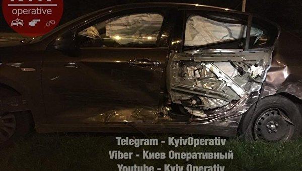 ВКиеве нетрезвый полицейский спровоцировал тройное ДТП