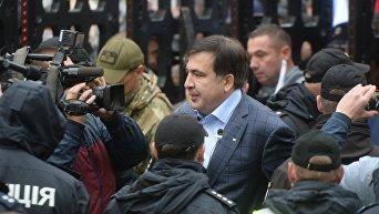 Саакашвили на митинге около Верховной Рады