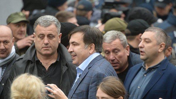 Саакашвили на митинге около Верховной Рады. Архивное фото
