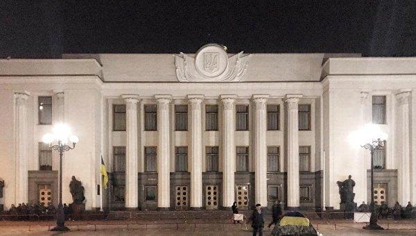 Ситуация под Верховной Радой в ночь на среду, 18 октября